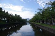 城下町の構造が山への景観と関係する(山形県鶴岡市)
